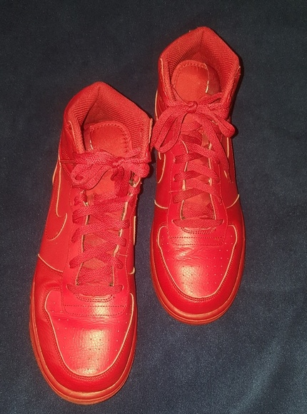 NIKE RED HIGH TOPS MENS 10.5